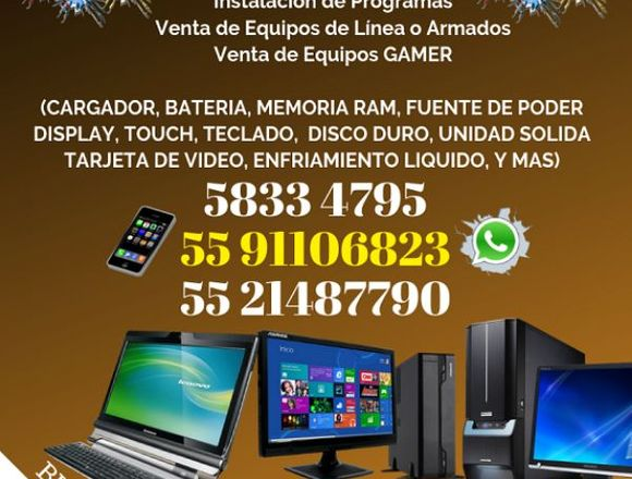 REPARACIÓN DE COMPUTADORAS, NOTEBOOK, PC Y MAS