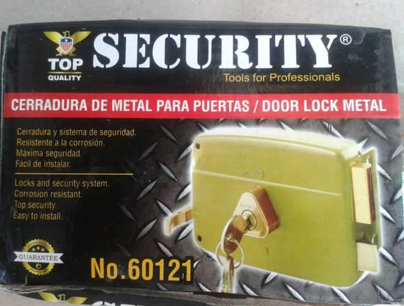CERR VERDE C/CILIN FIJO METAL (SECURITY)