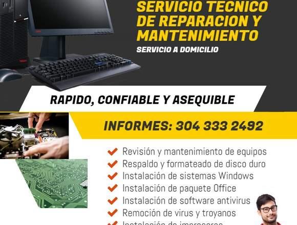 Servicio Reparación y Mantenimiento Computadores