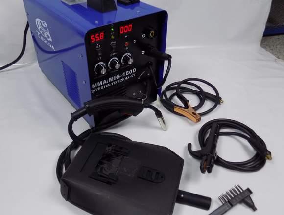 Soldadora de Microalambre y Electrodo 110/220v