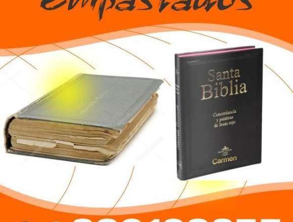EMPASTADOS Y MANTENIMIENTO DE LIBROS - BIBLIAS