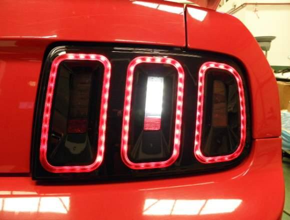 Mustang intermitentes amarillos led secuenciales