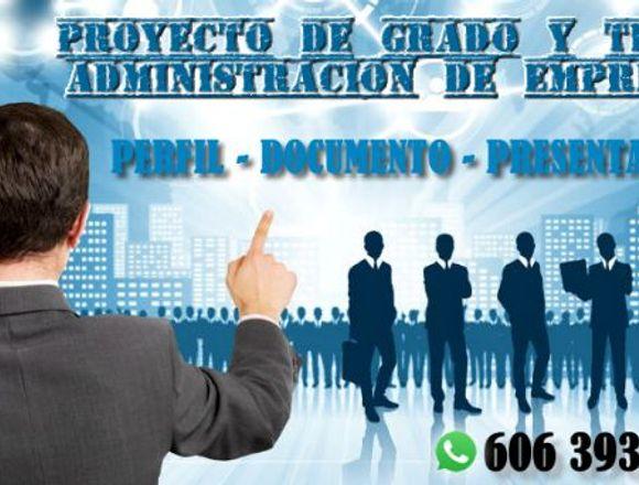 PROYECTOS DE GRADO PARA ADMINISTRACIÓN DE EMPRESAS