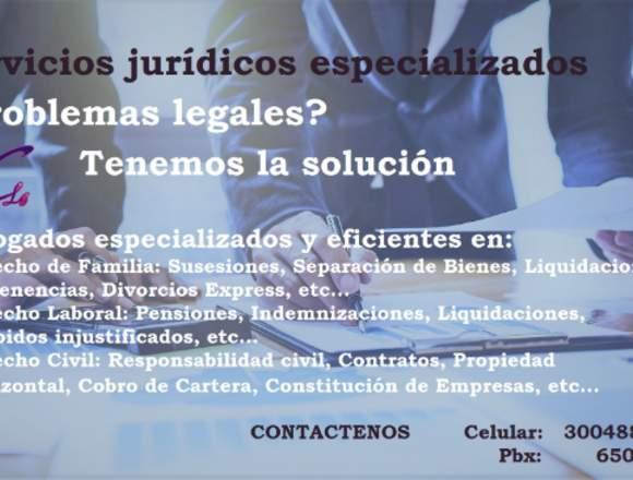Servicios jurídicos especializados