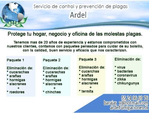 Servicios de fumigación Ardel
