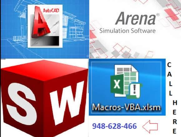 Trabajos y tareas en macros VBAExcel, Autocad
