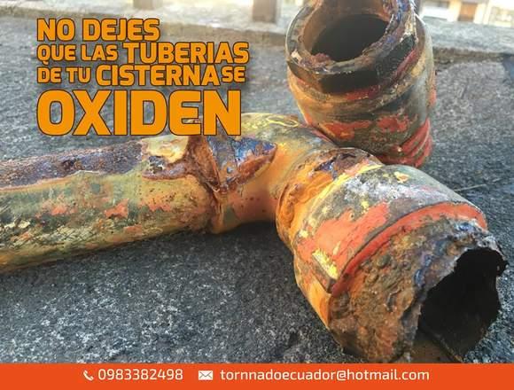 lavado y desinfección mantenimiento de cisterna.