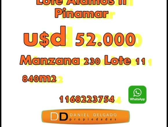 Lote en venta en Pinamar