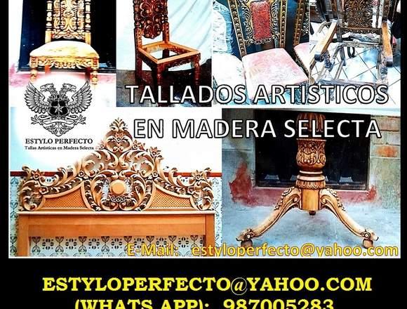 TALLADOS ARTISTICOS EN MADERA - WOOD CARVING
