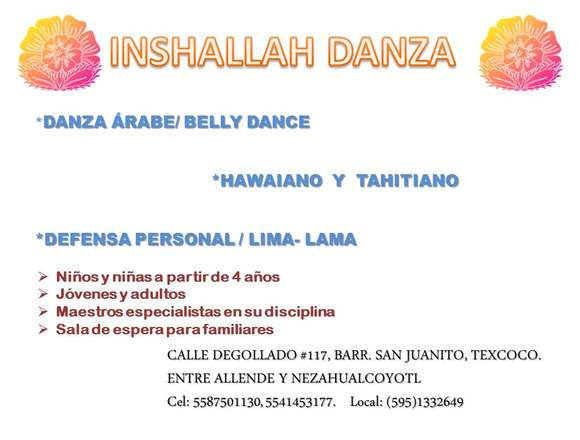 CLASES DE DANZA ÁRABE (BELLY DANCE)