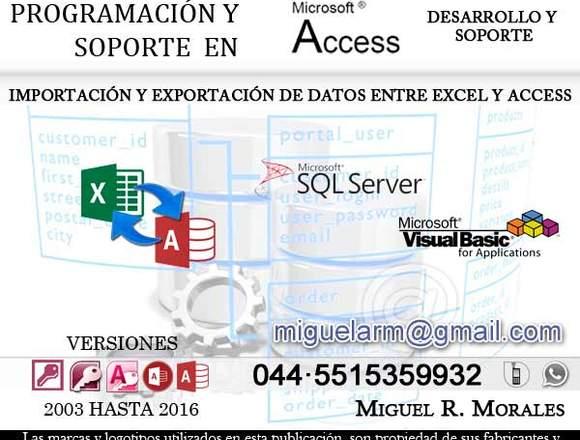 Programacion y soporte en Microsoft Access