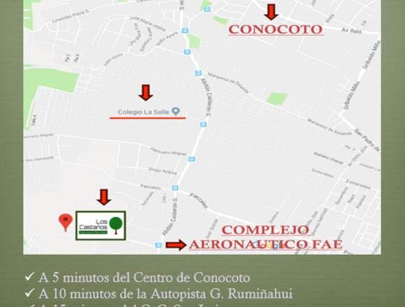 Casa - Conjunto Residencial Los Castaños, Quito