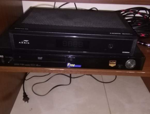 "Tv Samsung 46"", Apple TV, DVD FHD"