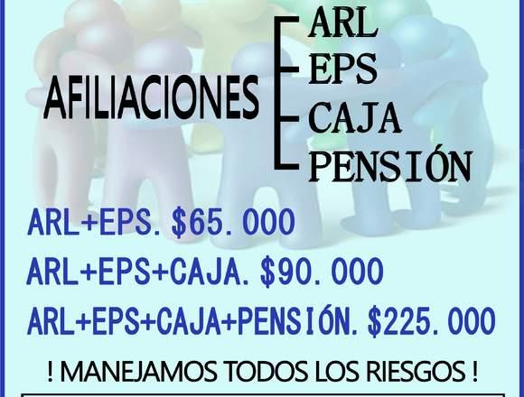 AFILIACION ARL Y EPS