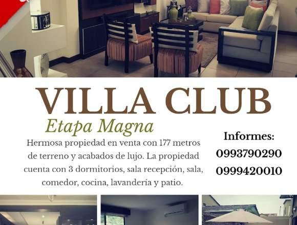 Venta de Casa en la Urb. Villa Club Etapa Magna