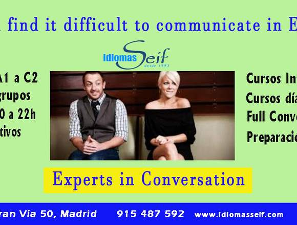 Clases de inglés intensivo en Madrid Centro
