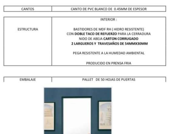 PUERTA HDF PANELADA(DOS PANELES) y PUERTA HDF LISA