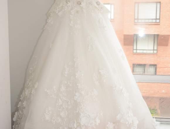 Hermoso Vestido de Novia Importado. Diseño Único.