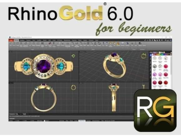 RHINOGOLD 6.6+VIDEO CURSO DISEÑO JOYAS 3D