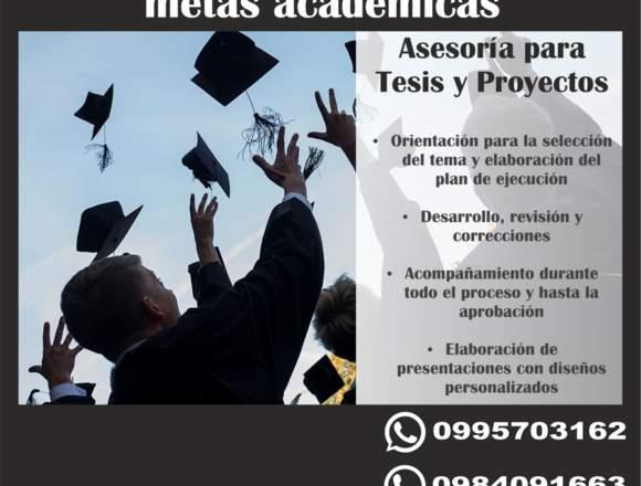Asesoría de Tesis   presencial y online.