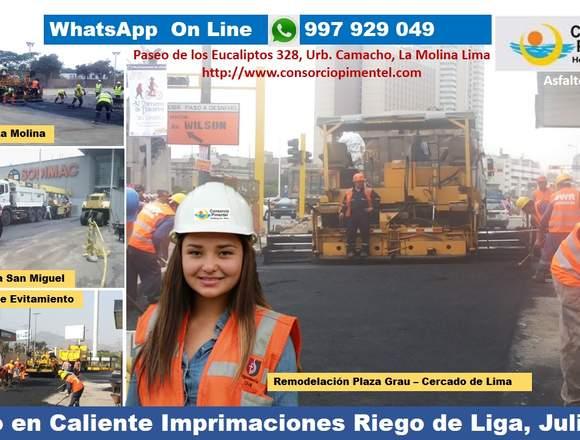 Servicio de colocación asfalto en caliente RC 250
