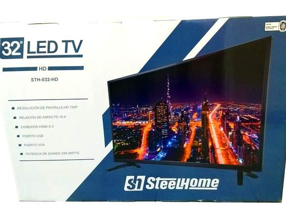 Nuevo Led Tv 32 Hd Steel Home Sth32 Hdmi Vga Usb