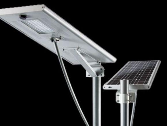 LED scon panel solar y sensor de movimineto