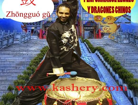 Dragones y leones chinos Kashery para eventos