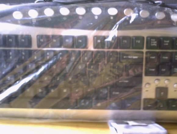 teclado usb y cabñe redndo