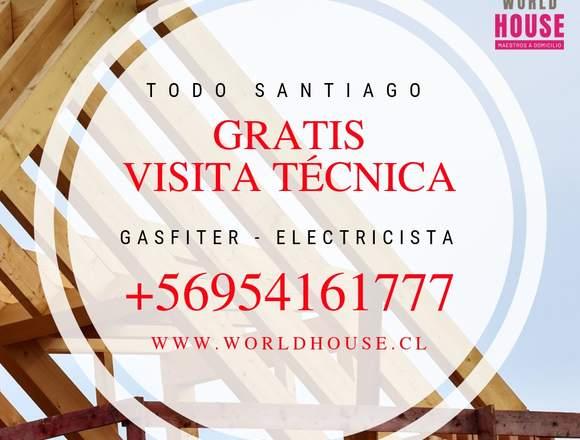 Gasfiter / Electricista / a domicilio / Las Condes