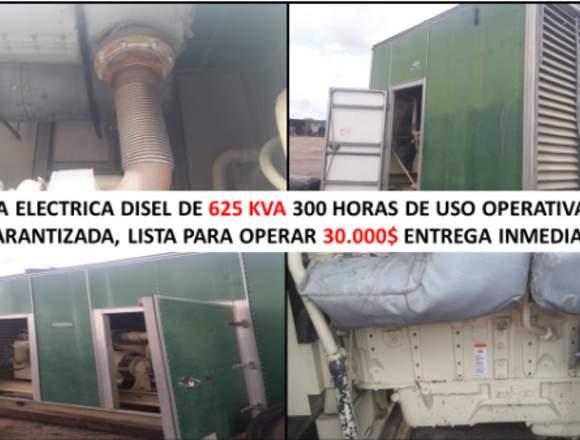 planta electrica disel de 625kva