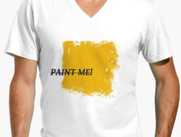 Camiseta hombre paint me