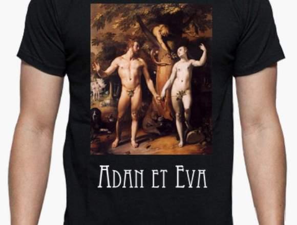 """Camiseta hombre """"Adan y Eva"""""""