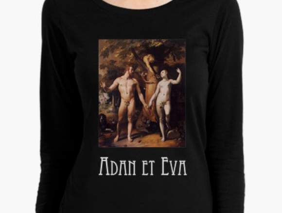 "Camiseta mujer ""Adan y Eva"""