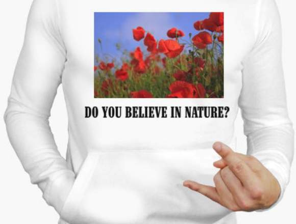 Jersey hombre Do you believe in nature?