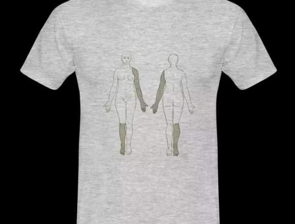 Camiseta hombre NUEVA cuerpo femenino