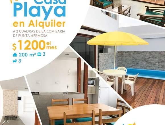 NUEVA Casa Playa en Alquiler