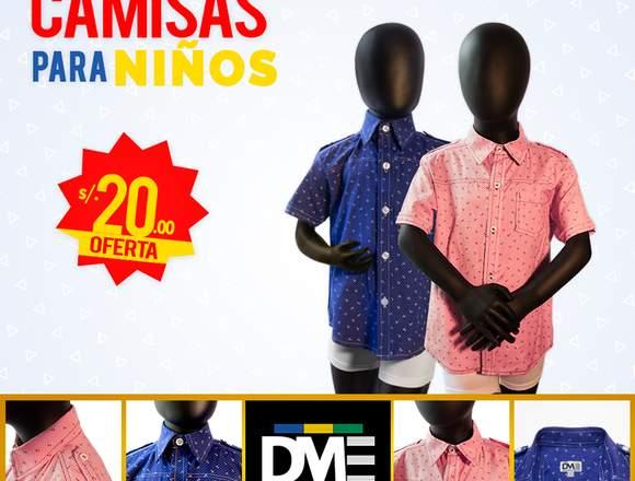 Camisa para niño estampada