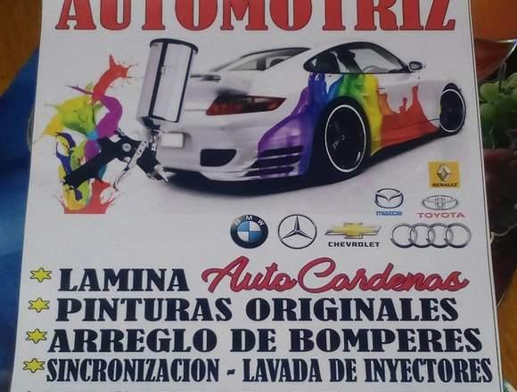 Latoneria y pintura para toda clase de vehiculo