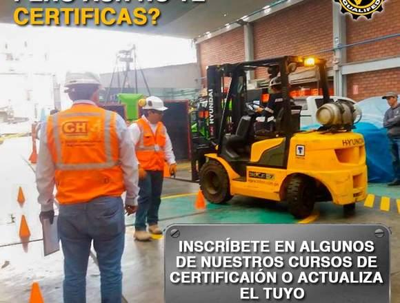 CERTIFICACION DE OPERADORES DE MONTACARGAS, GRUAS