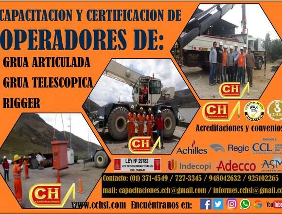 CURSOS, CERTIFICACIÓN DE OPERADORES DE MONTACARGAS