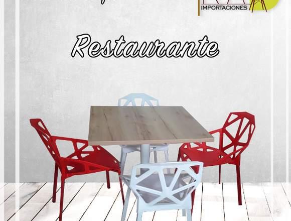 sillas mesa restaurante alto trafico