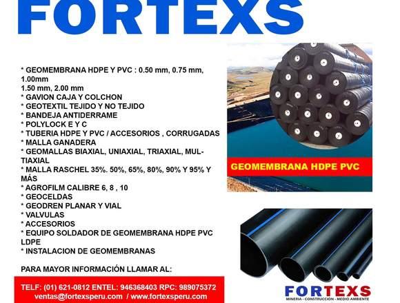 GEOMEMBRANA NOMINAL 0.50 A 2.00 MM HDPE PVC