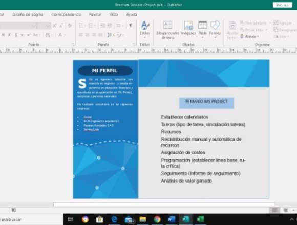 Clases de Project Virtuales y Presenciales