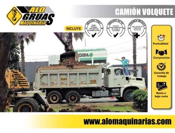 ALQUILER VOLQUETES, RETROEXCAVADORAS Y MAS