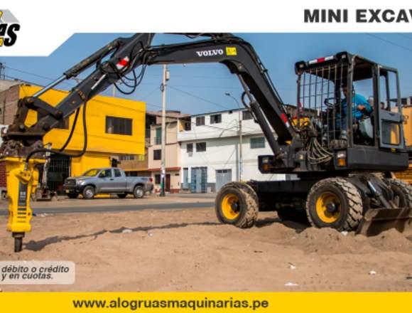 ALQUILER MINIEXCAVADORA, RETROEXCAVADORA Y MAS