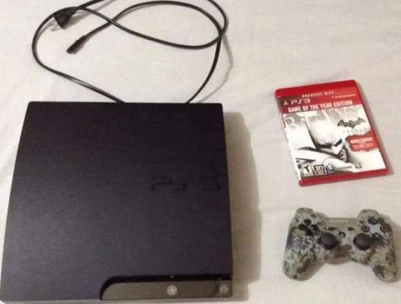 Ps3 Consola Slim De 250 Gb + Palanca + 1 Juegos