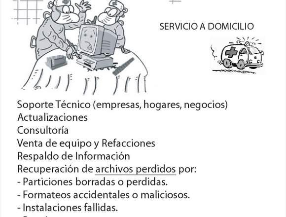 Soporte Computadoras Servicio a Domicilio