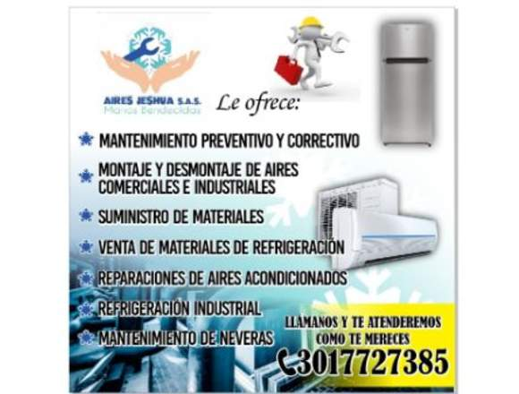 servicio  de mantenimiento e instalación de aires