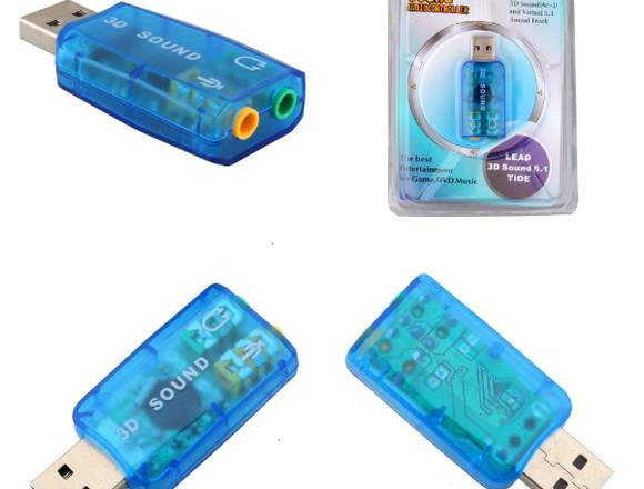 Controlador De Audio Usb Music Lead 3d Sound 5.1